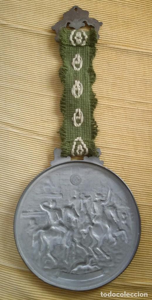 Antigüedades: MEDALLÓN ESTAÑO O PEWTER. MADE IN WESTERN GERMANY. LIEBE HEIMATLAND ADE. DE LA CONOCIDA MARCA: BMF - Foto 5 - 105853963