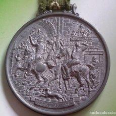Antigüedades: MEDALLÓN ESTAÑO O PEWTER. MADE IN WESTERN GERMANY. LIEBE HEIMATLAND ADE. DE LA CONOCIDA MARCA: BMF. Lote 105853963