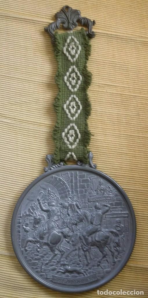 Antigüedades: MEDALLÓN ESTAÑO O PEWTER. MADE IN WESTERN GERMANY. LIEBE HEIMATLAND ADE. DE LA CONOCIDA MARCA: BMF - Foto 6 - 105853963