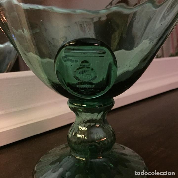 Antigüedades: Frutero de vidrio soplado de Vidrieria Gordiola. Perfecto estado. - Foto 2 - 105854254