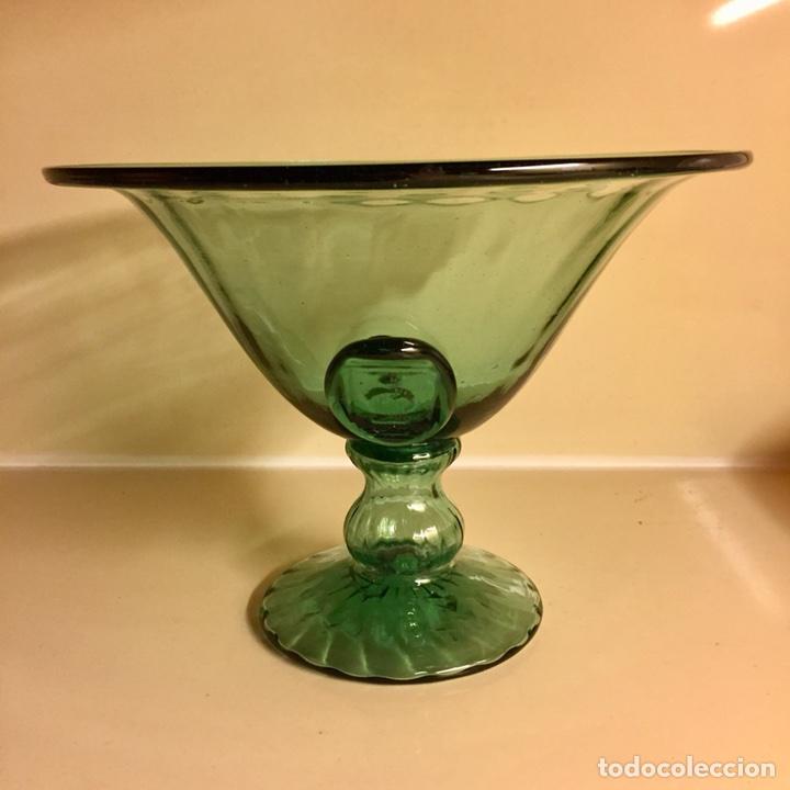 Antigüedades: Frutero de vidrio soplado de Vidrieria Gordiola. Perfecto estado. - Foto 3 - 105854254