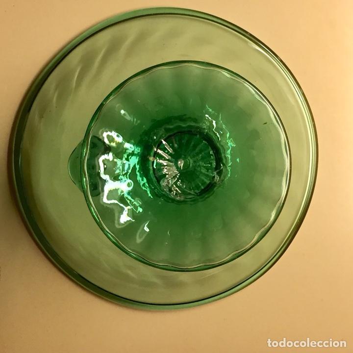 Antigüedades: Frutero de vidrio soplado de Vidrieria Gordiola. Perfecto estado. - Foto 6 - 105854254