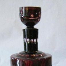 Antigüedades: JARRA DE CRISTAL DE BOHEMIA TALLADO. Lote 105883811
