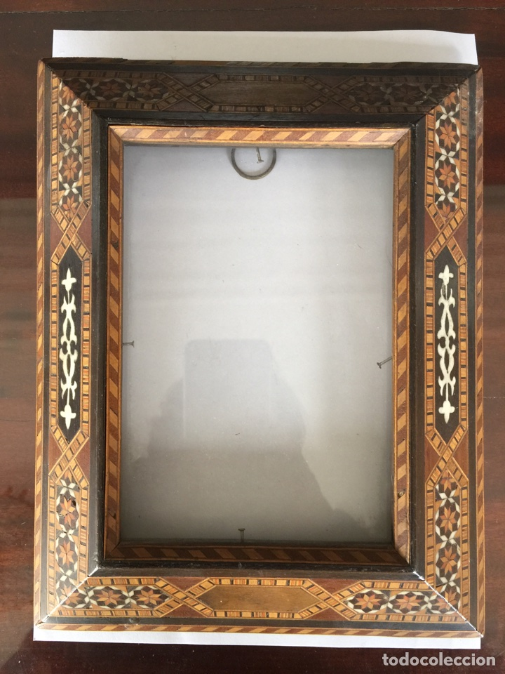 antiguo marco de taracea granadina - Comprar Marcos Antiguos de ...