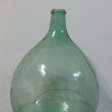 Antigüedades: DAMAJUANA CRISTAL VERDE 60 CM ALTO. Lote 105899038