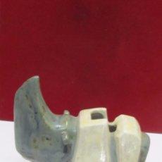 Antigüedades: FIGURA RINOCERONTE DE PORCELANA. Lote 105904175