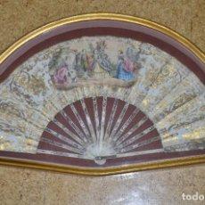 Antigüedades: ABANICO Y ABANIQUERA SIGLO XIX. Lote 105923115