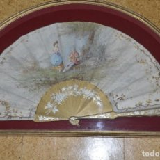 Antigüedades: ABANICO Y ABANIQUERA SIGLO XIX. Lote 105924575