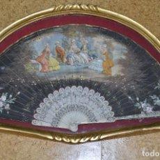 Antigüedades: ABANICO Y ABANIQUERA SIGLO XIX. Lote 105925131