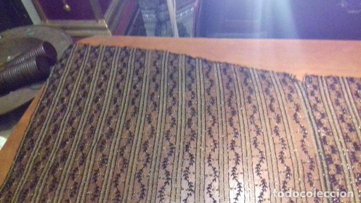 Antigüedades: antiguo tul bordado negro pedreria dorada oro y cristal de azabaches difuntos semana santa virgen - Foto 46 - 105933943