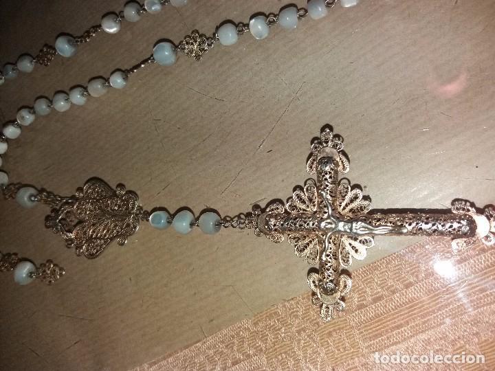 Antigüedades: rosario de filigrana - Foto 2 - 105946223