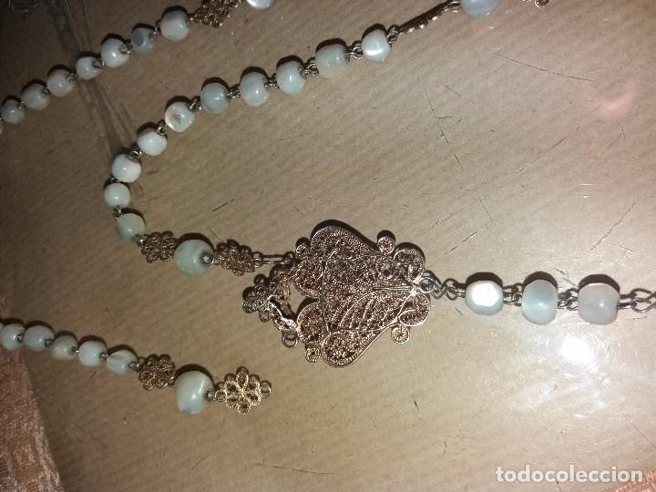 Antigüedades: rosario de filigrana - Foto 3 - 105946223