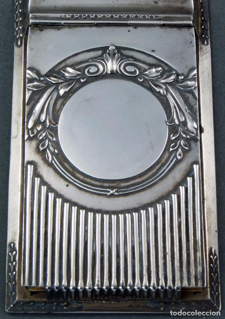 Antigüedades: Agenda modernista de plata con libreta principios del siglo XX - Foto 2 - 105970775