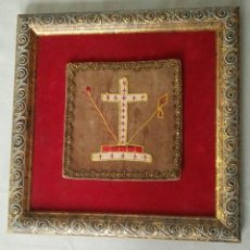 Antigüedades: ANTIGUA CRUZ BORDADA DE PRINCIPIOS SIGLO XX. Lote 105981711