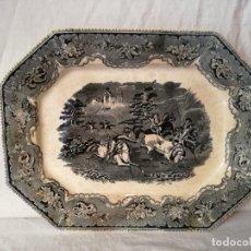 Antigüedades: FUENTE OCHAVADA EN LOZA DE CARTAGENA. SIGLO XIX.. Lote 105988435