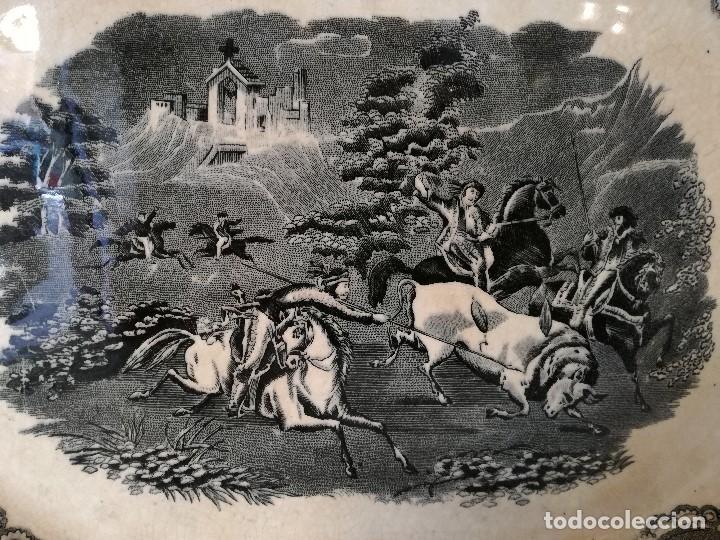 Antigüedades: FUENTE OCHAVADA EN LOZA DE CARTAGENA. SIGLO XIX. - Foto 2 - 105988435