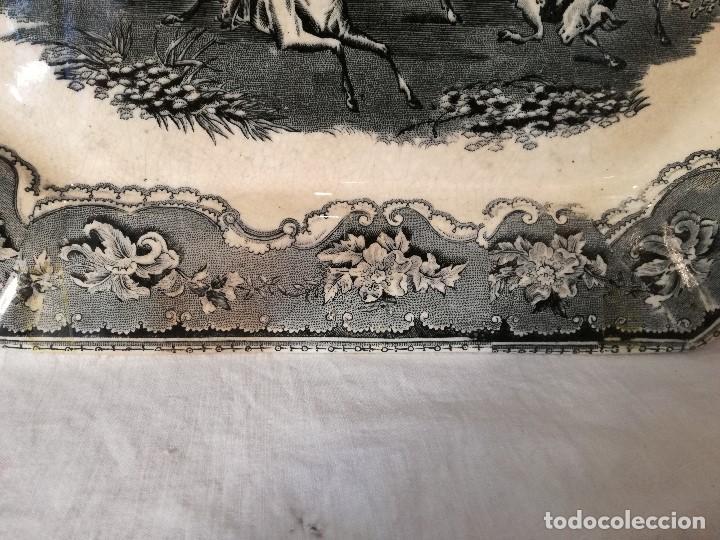 Antigüedades: FUENTE OCHAVADA EN LOZA DE CARTAGENA. SIGLO XIX. - Foto 3 - 105988435