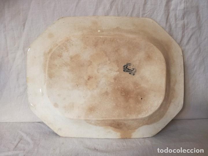 Antigüedades: FUENTE OCHAVADA EN LOZA DE CARTAGENA. SIGLO XIX. - Foto 5 - 105988435