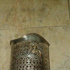 Antigüedades: BOTELLERO DE ALPACA PLATEADO. Lote 105988891