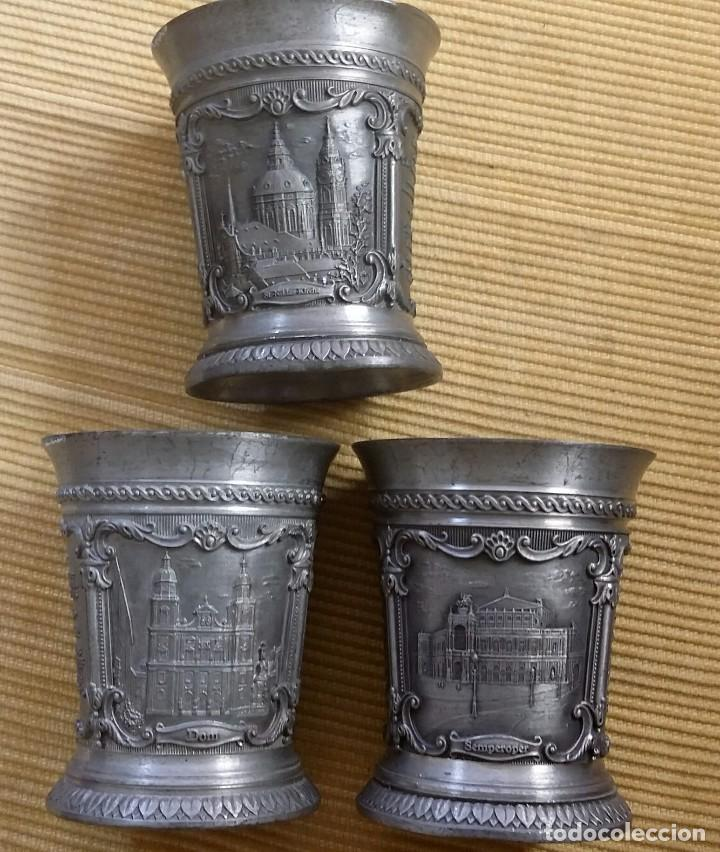 Antigüedades: LOTE 3 VASITOS DE ZINN, ESTAÑO, PEWTER. DE LA FAMOSA FIRMA WMF. JAHRESSTAMPER. EDICIÓN LIMITADA - Foto 8 - 105992883