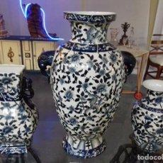 Antigüedades: JUEGO DE JARRONES PORCELANA CHINA.. Lote 105997187