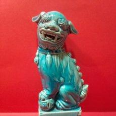 Antigüedades: LEÓN DE FOO. CERÁMICA ESMALTADA CHINA, SIGLO XX.. Lote 105997951