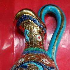 Antigüedades: JARON HECHO Y PINTADO A MANO EN ORO CECCHINO 16 CM.. Lote 106006995