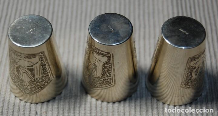 Antigüedades: BELLISIMA CAJITA CON 3 VASITOS CEREMONIALES JAPONESES DE PLATA PURA.AÑOS 1900-1930.ESPECTACULARES - Foto 7 - 106009567