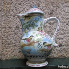 Antigüedades: JARRA DE PICO CON TAPA, DECORADA A MANO, DE PORTUGAL, 35CM 1.6 KG + INFO. Lote 106017487