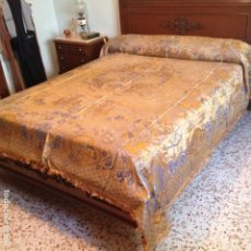 Antigüedades: COLCHA ANTIGUA DE SEDA. Lote 106025071