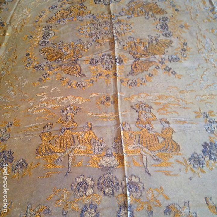 Antigüedades: Colcha antigua de seda - Foto 3 - 106025071