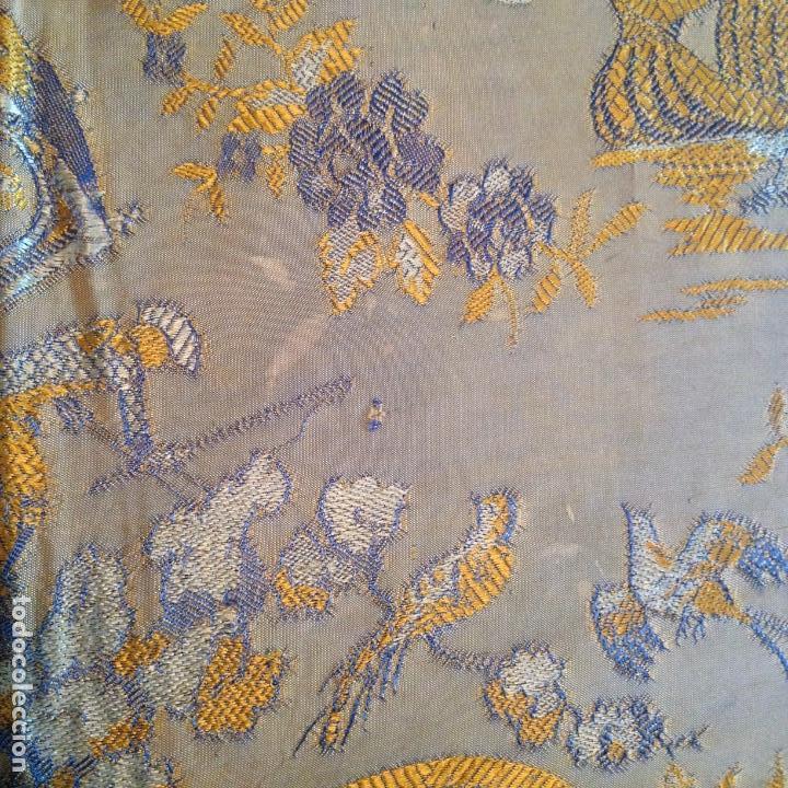 Antigüedades: Colcha antigua de seda - Foto 4 - 106025071