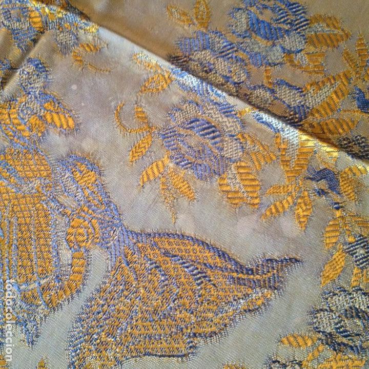 Antigüedades: Colcha antigua de seda - Foto 5 - 106025071