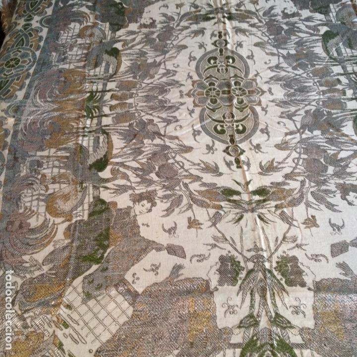 Antigüedades: Colcha antigua de seda - Foto 3 - 106025299