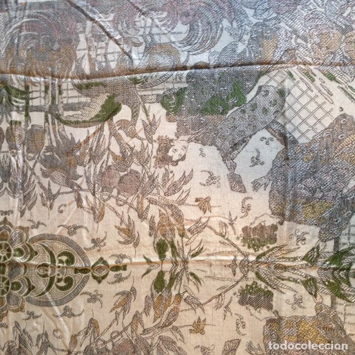 Antigüedades: Colcha antigua de seda - Foto 4 - 106025299