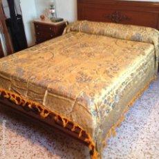 Antigüedades: COLCHA ANTIGUA DE SEDA. Lote 106025427