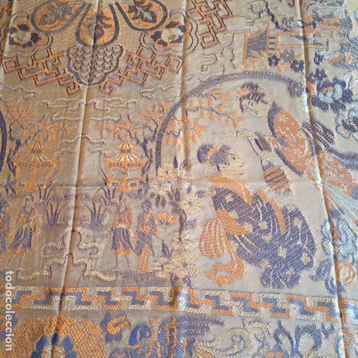 Antigüedades: Colcha antigua de seda - Foto 3 - 106025427
