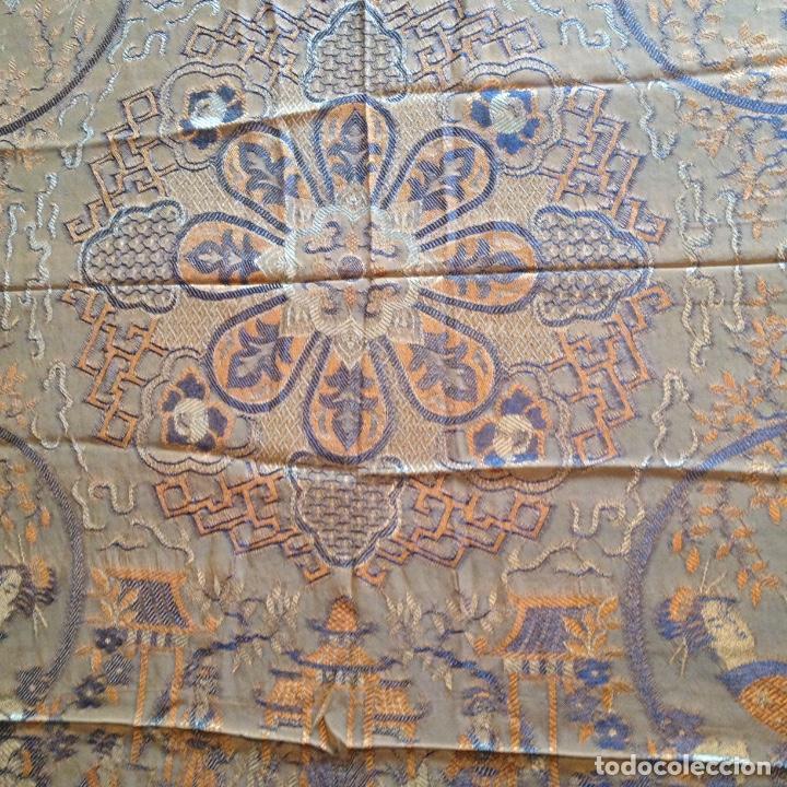 Antigüedades: Colcha antigua de seda - Foto 4 - 106025427
