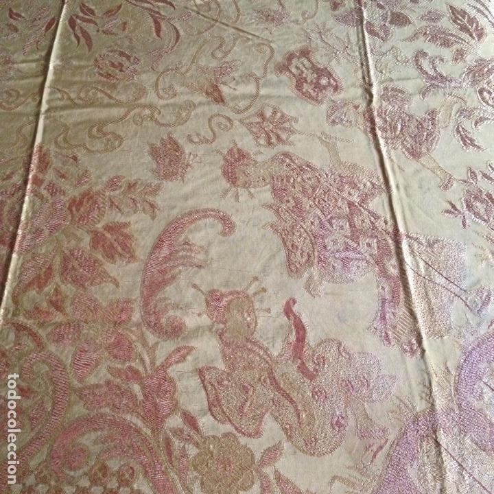 Antigüedades: Colcha antigua de seda - Foto 3 - 106024423