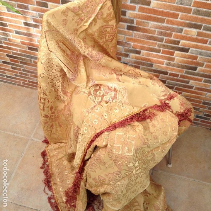 Antigüedades: Colcha antigua de seda - Foto 4 - 106024423