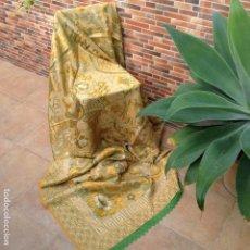 Antigüedades: COLCHA ANTIGUA DE SEDA. Lote 106024899