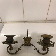 Antigüedades: CANDELABRO CAPILLA, AÑO 1850, PARA VELAS. Lote 106040123