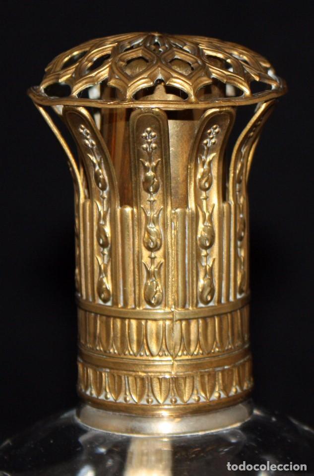 Antigüedades: PRECIOSO PERFUMERO MODERNISTA EN CRISTAL Y LATON (FRANCIA).CIRCA 1910 - Foto 3 - 106061507