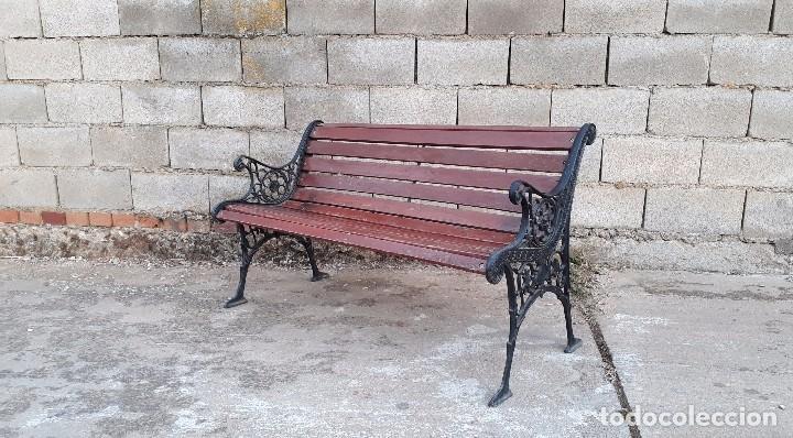 banco antiguo de madera y hierro, sofa o banco - Comprar Sofás ...