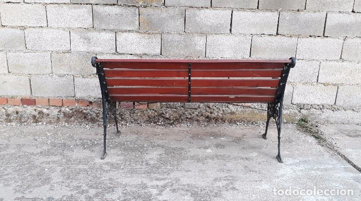 Antigüedades: Banco antiguo de madera y hierro, sofa o banco de jardín estilo francés, retro vintage - Foto 10 - 106072359