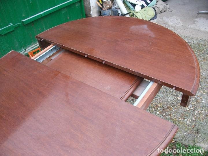 mesa de comedor redonda extensible pata central - Kaufen Antike ...