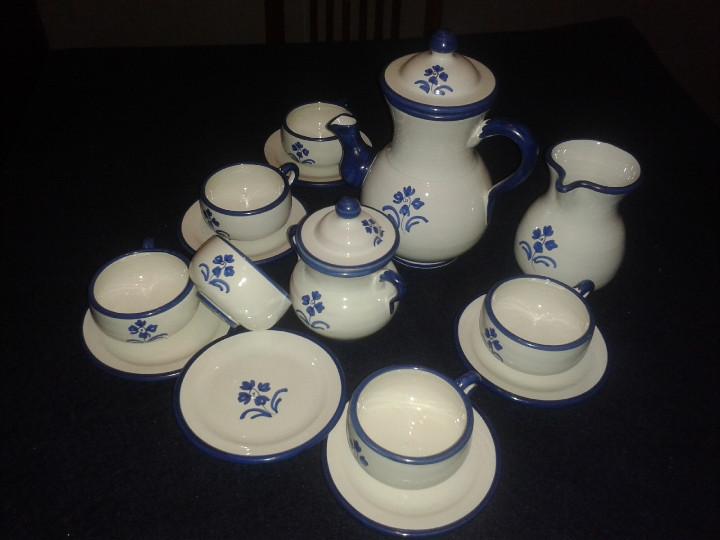 Antigüedades: Juego de cafe - 6 tazas - Foto 2 - 27208937