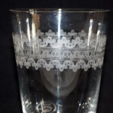 Antigüedades: VASO EN CRISTAL GRABADO AL ACIDO (LAURA ASHLEY).. Lote 106134095