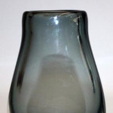 Antigüedades: JARRON EN CRISTAL PRENSADO AZUL CRUDO.. Lote 106153067
