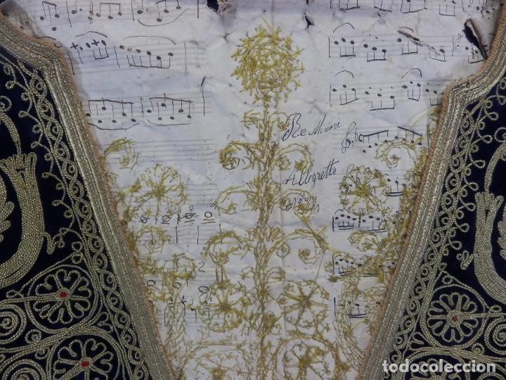 Antigüedades: t1 Maravillosa chaqueta corta, torera goyesca hilos de oro en vistas y terciopelo. fines XVIII - Foto 6 - 106176259